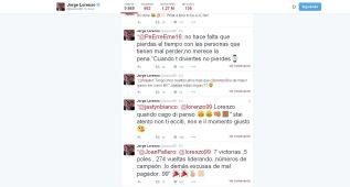 Lorenzo contraataca a los 'haters' de Twitter con ironía