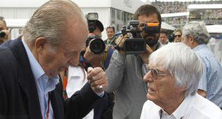 """Rey Juan Carlos: """"Espero que haya más españoles en la F1"""""""