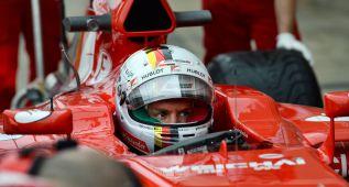 Vettel realiza un test con el último Ferrari de Alonso