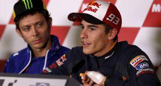 Márquez rompe su acuerdo de merchandising con Rossi