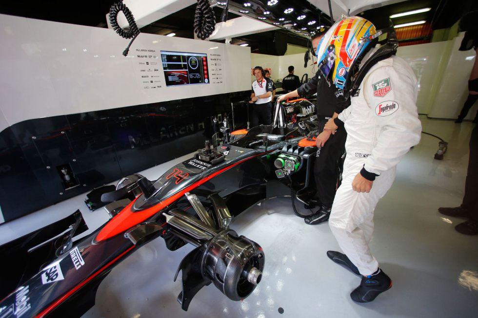 El McLaren Honda de Alonso 2016