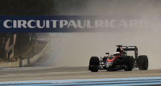 McLaren Honda acaba con problemas en el test de Pirelli