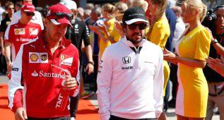 En 2015 Vettel ganó 46 millones de euros por los 36 de Alonso