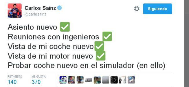 Sainz cumple con 'sus labores' en la oficina de Toro Rosso