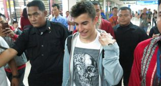 Márquez: ídolo en Yakarta antes de presentarse Honda