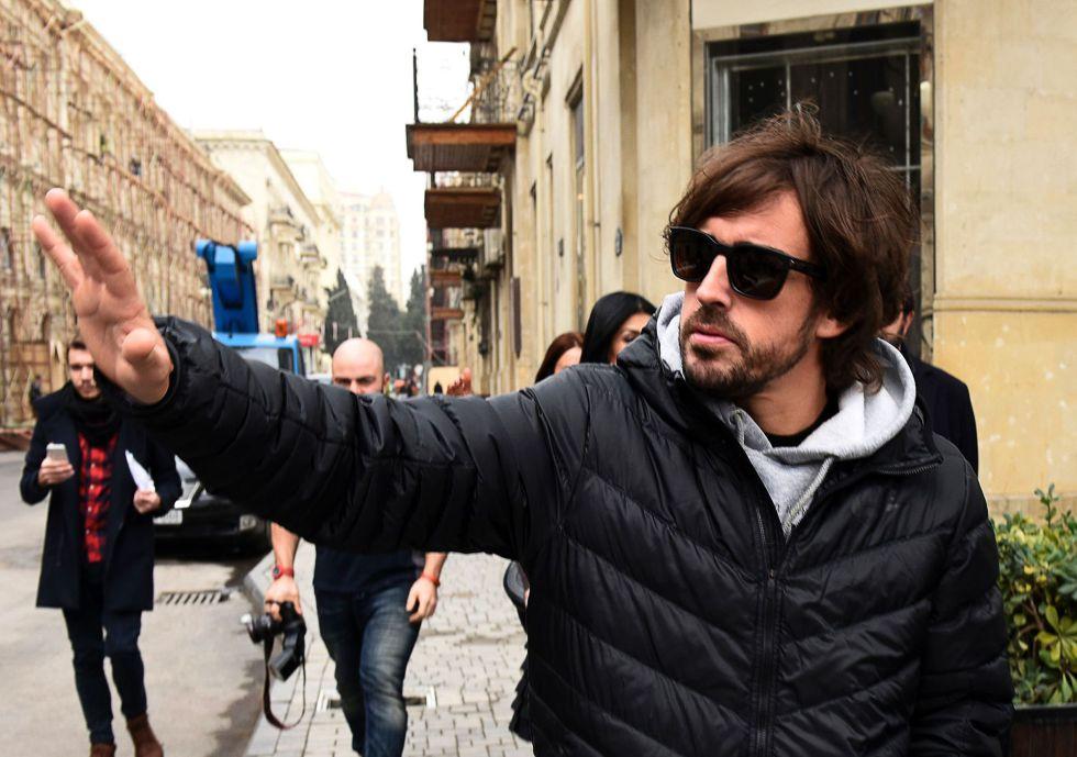 Alonso, en Bakú