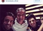 Los Sainz y Fernando Alonso...