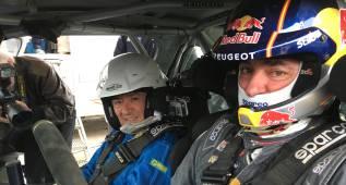 "AS se quedó ""sin respiración"" como copiloto de Carlos Sainz"