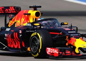 Ricciardo da una vuelta con el Halo de Red Bull en Sochi