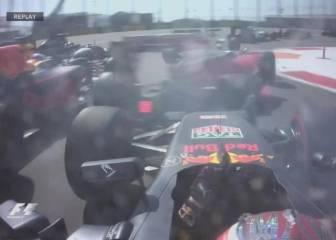 Vettel, fuera de carrera: Kvyat ahora sí tuvo la culpa