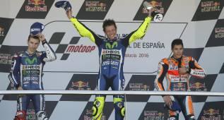 Rossi, Lorenzo y Márquez batieron un récord juntos