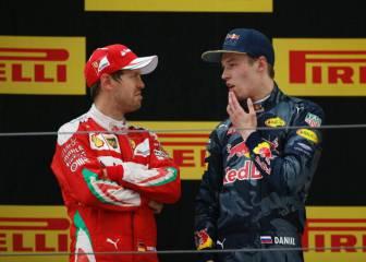 Vettel y el relevo de Kvyat: