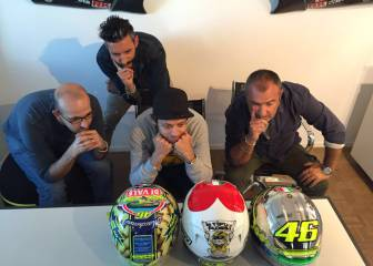 Rossi y el diseño del casco de Mugello: