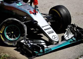 Así fue el accidente de Hamilton que le sacó del GP de España