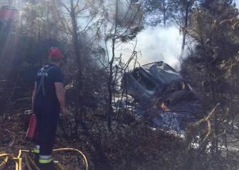 El Hyundai de Paddon acabó calcinado tras un accidente