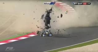 Accidente espeluznante en la Fórmula 3 en Austria