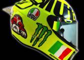 Juego de palabras de Rossi para su casco de Mugello: 'MUGIALLO'