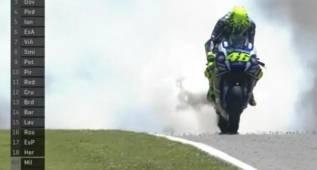 Rossi rompe motor y Mugello enmudece con su abandono