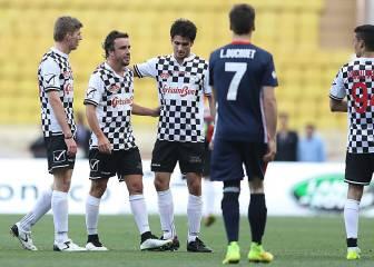 El partido de fútbol de la F1 en imágenes