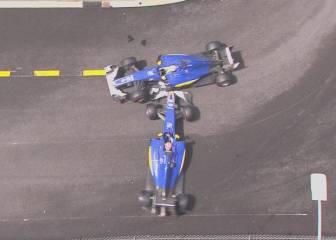 Bronca de Sauber a sus pilotos por una colisión