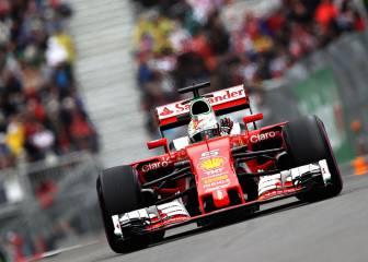Vettel y Verstappen, delante de Mercedes; Sainz 7º y Alonso 8º