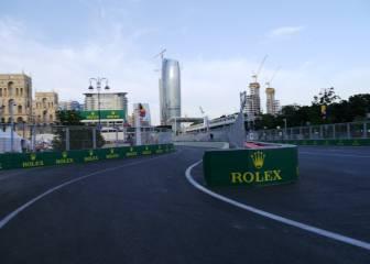 La entrada al pit lane, la otra trampa del circuito de Bakú