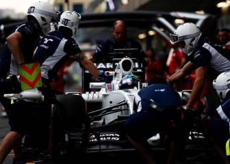 Williams, récord en la F1 con un pit stop en 1.92 segundos
