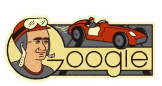 'Google' Argentina homenajea hoy al 'Chueco' Fangio