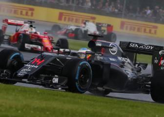 Alonso peleó en Silverstone con el coche tocado