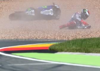 Hacía diez años que Lorenzo no se caía tres veces en un GP