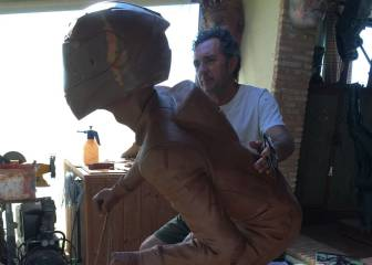 Moaña prepara una escultura de Dani Rivas a tamaño natural