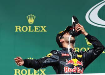Ricciardo y el 'shoey', la forma australiana de celebrar podios