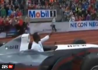 Usain Bolt también disfruta con la velocidad... al volante