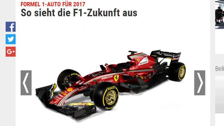 ¿Serán así los Fórmula 1 de 2017?
