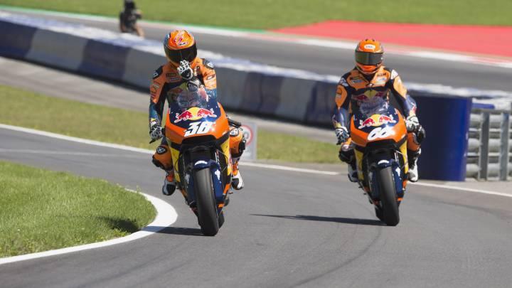 Rossi augura un gran futuro a la KTM de Beirer y Leitner