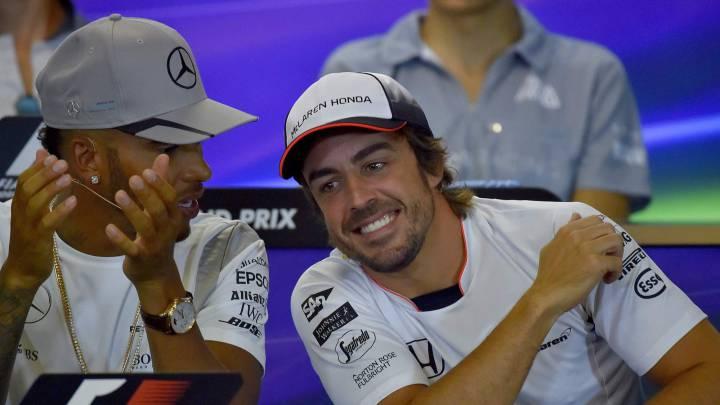Alonso ya no saldrá último: 55 puestos de sanción a Hamilton