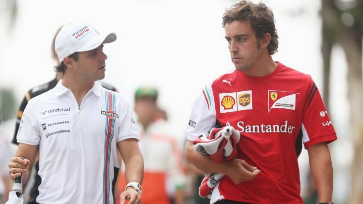 "Massa: ""Dejé pasar a Alonso más de una vez en Ferrari"""