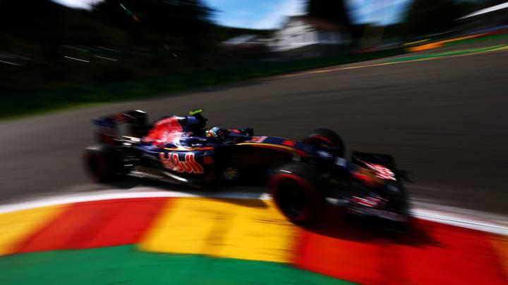 El Toro Rosso de Carlos Sainz, el más lento en Bélgica