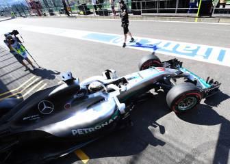 Hamilton saldrá desde el pit lane en Spa y no junto a Alonso