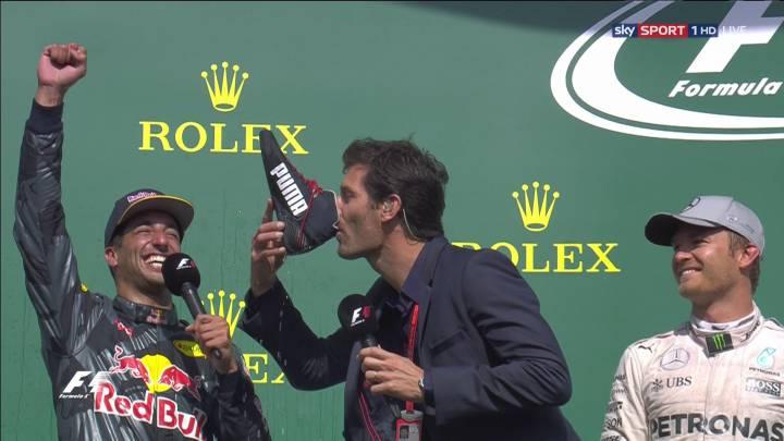 Webber le da a la bota... de su compatriota Ricciardo
