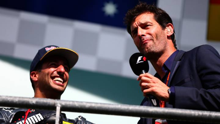 "Webber: ""No fue muy agradable beber de la bota de Ricciardo"""