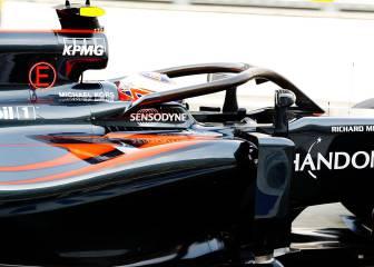 Button prueba el Halo en el McLaren por primera vez