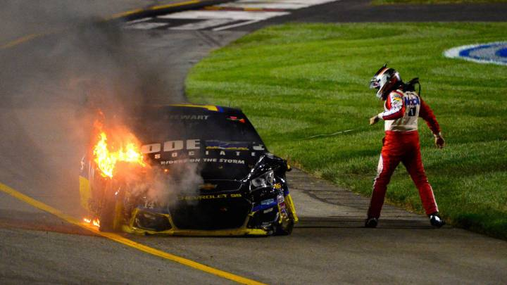 Espectacular: colisión en la NASCAR con siete implicados