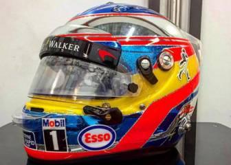 Alonso, Verstappen... Cascos nuevos para un GP especial