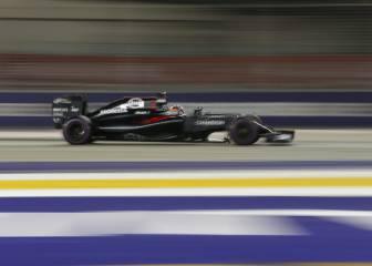 Alonso, el coche más lento, a 14 km/h de Massa en Singapur