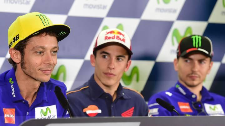 Rossi y Lorenzo no se saludan en la rueda de prensa