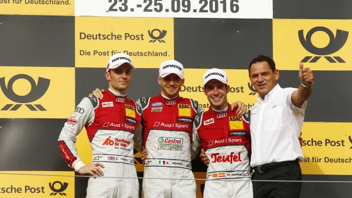 Miguel Molina sube al podio en el festival de Audi en Hungría