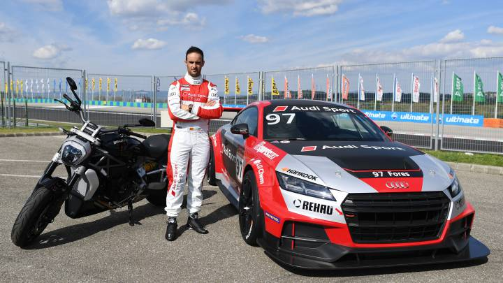 Xavi Forés cambia la Ducati por un Audi TT en Hungaroring