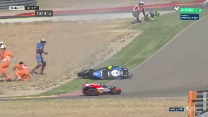 Márquez, Pol... Carrusel de caídas en el FP3: 8 en 30 minutos