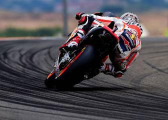 Márquez lidera pese a una caída el accidentado FP3